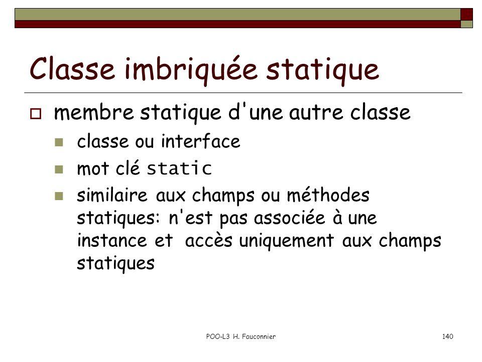 Classe imbriquée statique