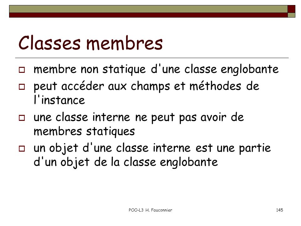 Classes membres membre non statique d une classe englobante