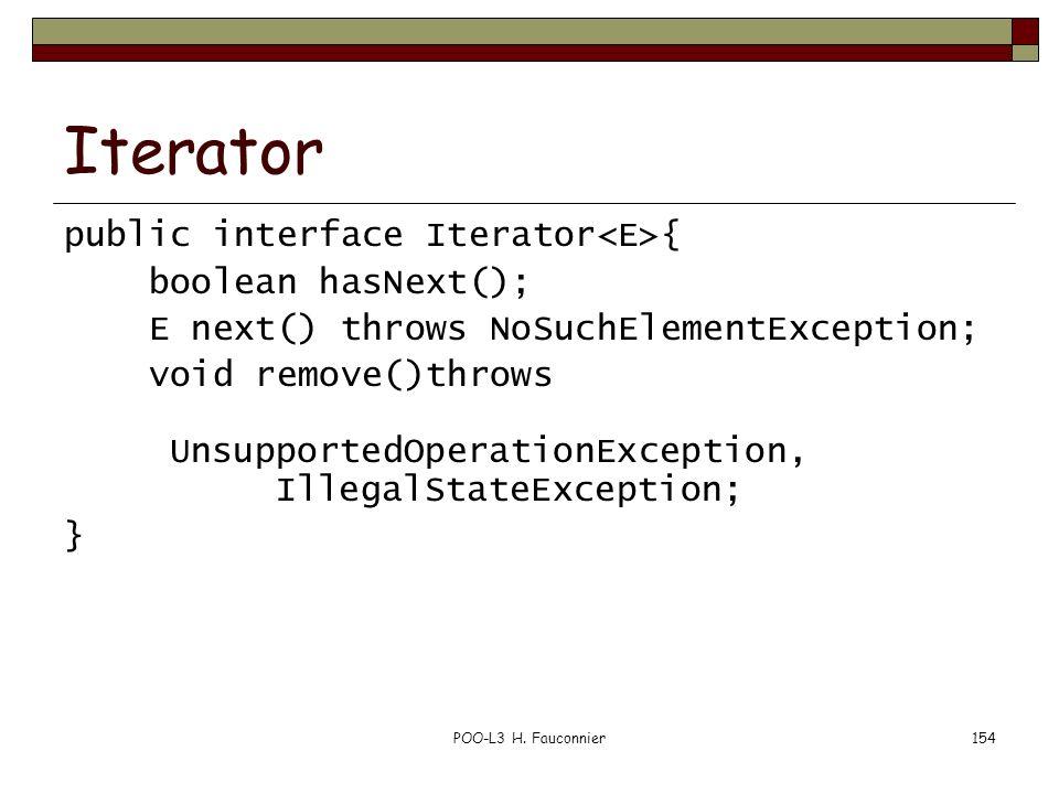 Iterator public interface Iterator<E>{ boolean hasNext();