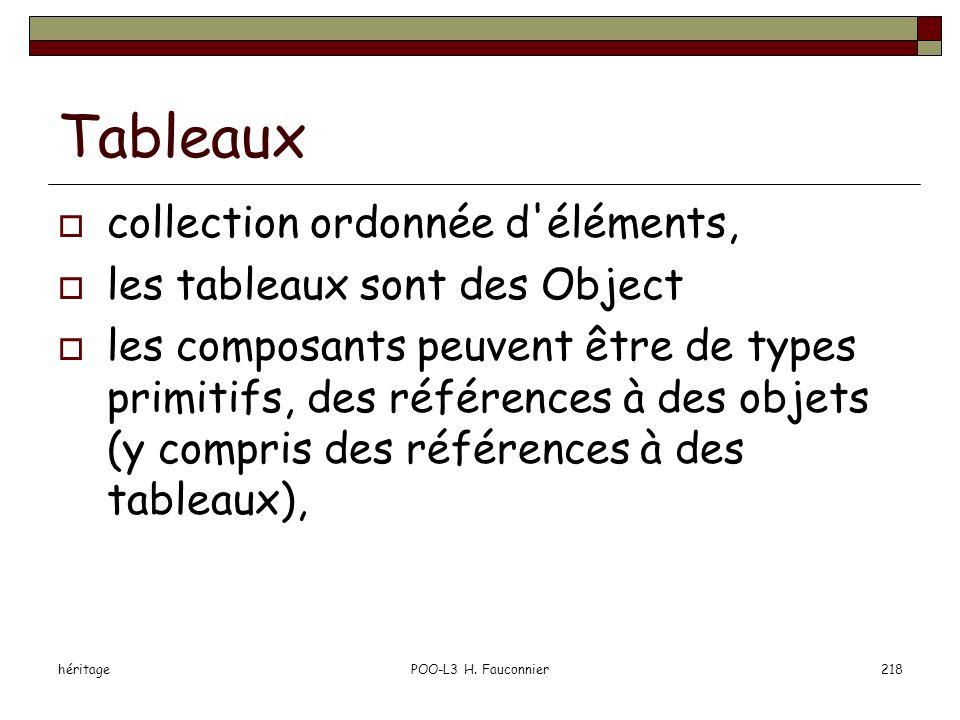 Tableaux collection ordonnée d éléments, les tableaux sont des Object