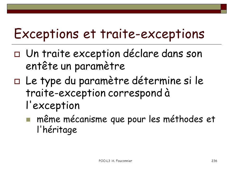 Exceptions et traite-exceptions
