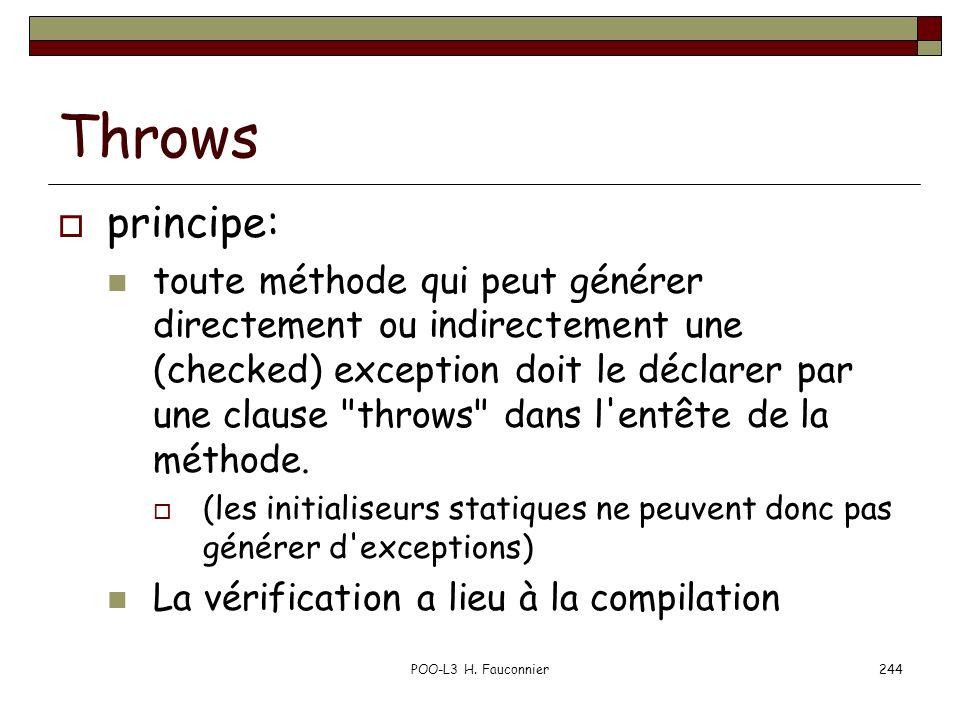 Throws principe: