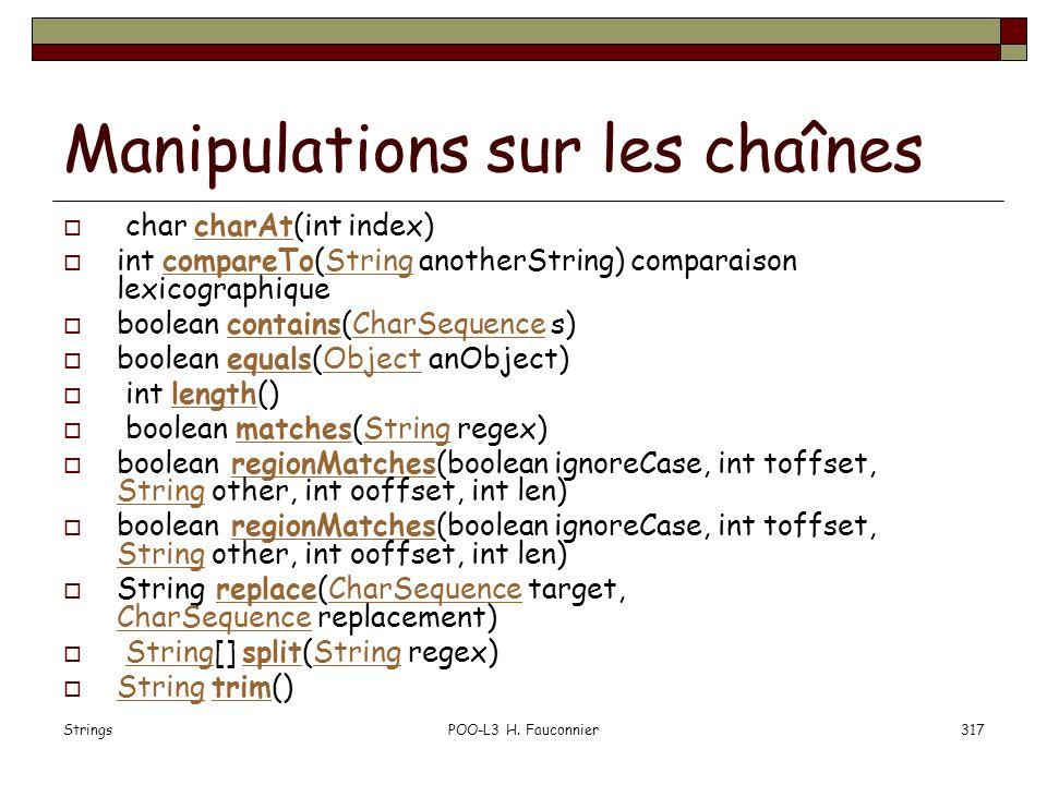 Manipulations sur les chaînes
