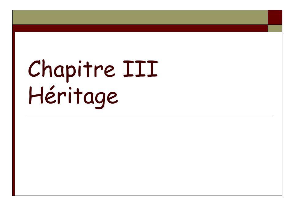 Chapitre III Héritage