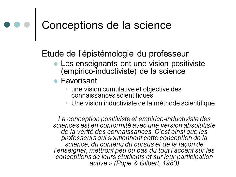 Conceptions de la science