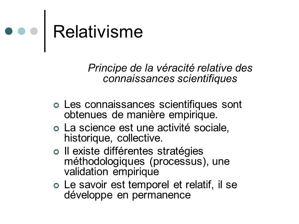 Principe de la véracité relative des connaissances scientifiques