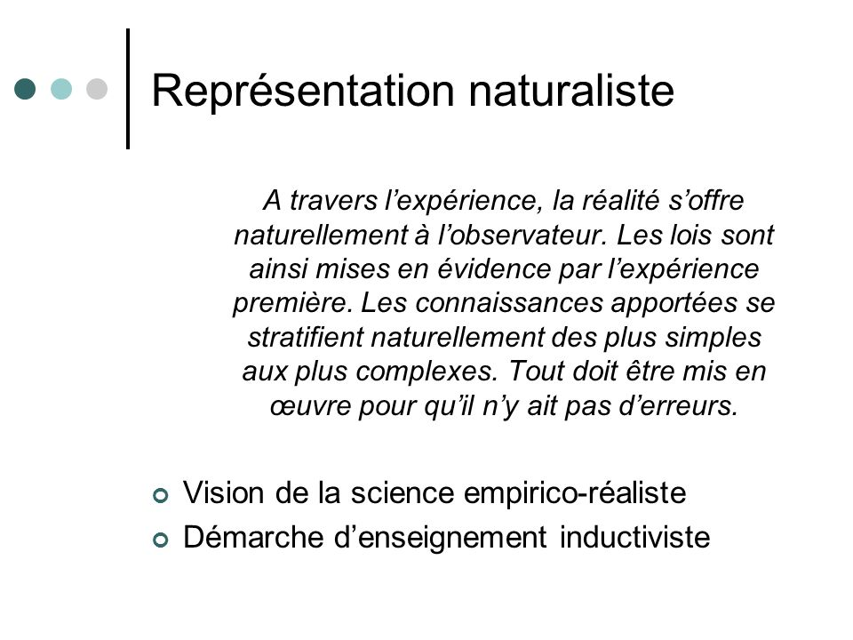 Représentation naturaliste