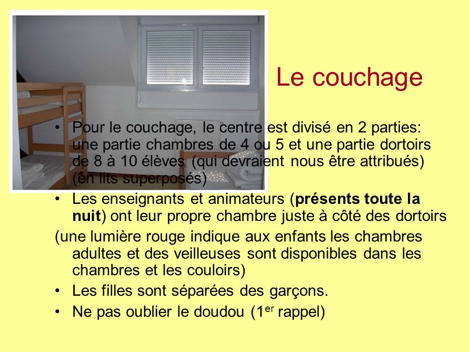 Le couchage
