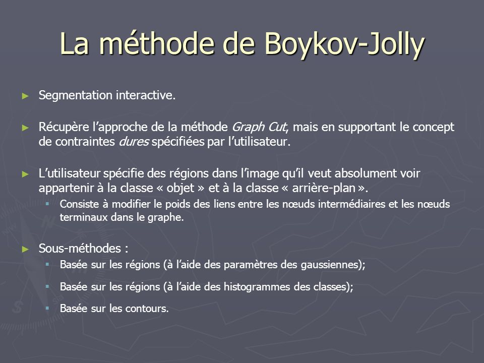 La méthode de Boykov-Jolly