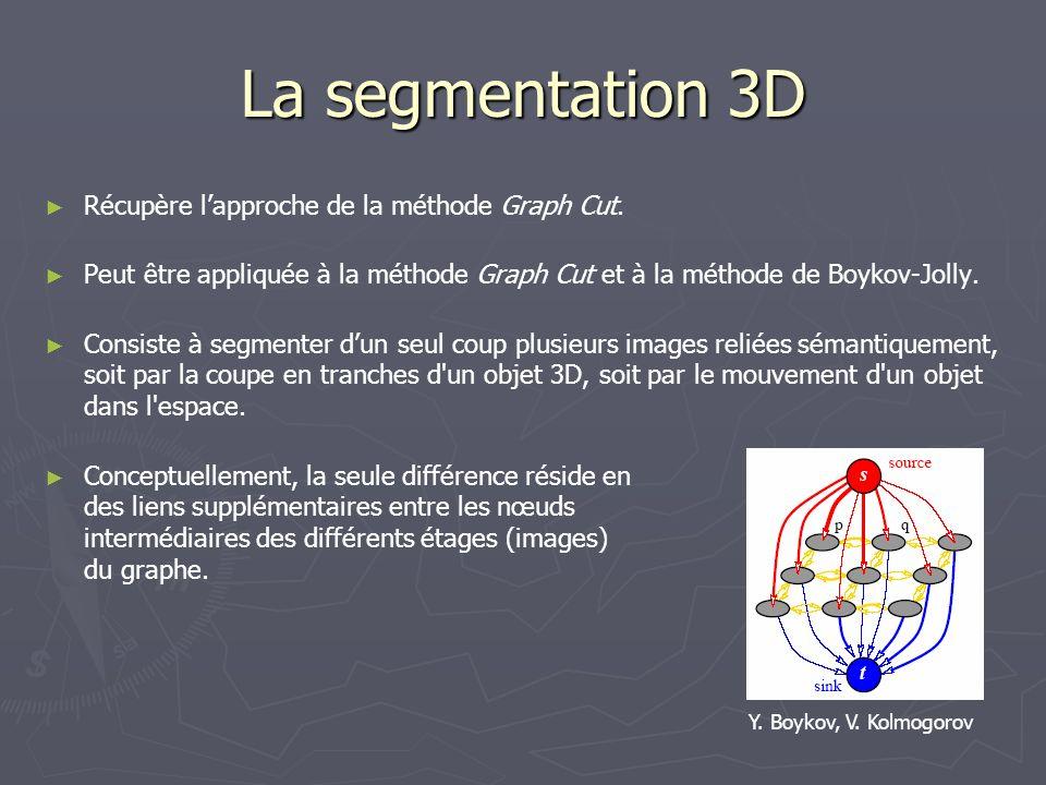 La segmentation 3D Récupère l'approche de la méthode Graph Cut.