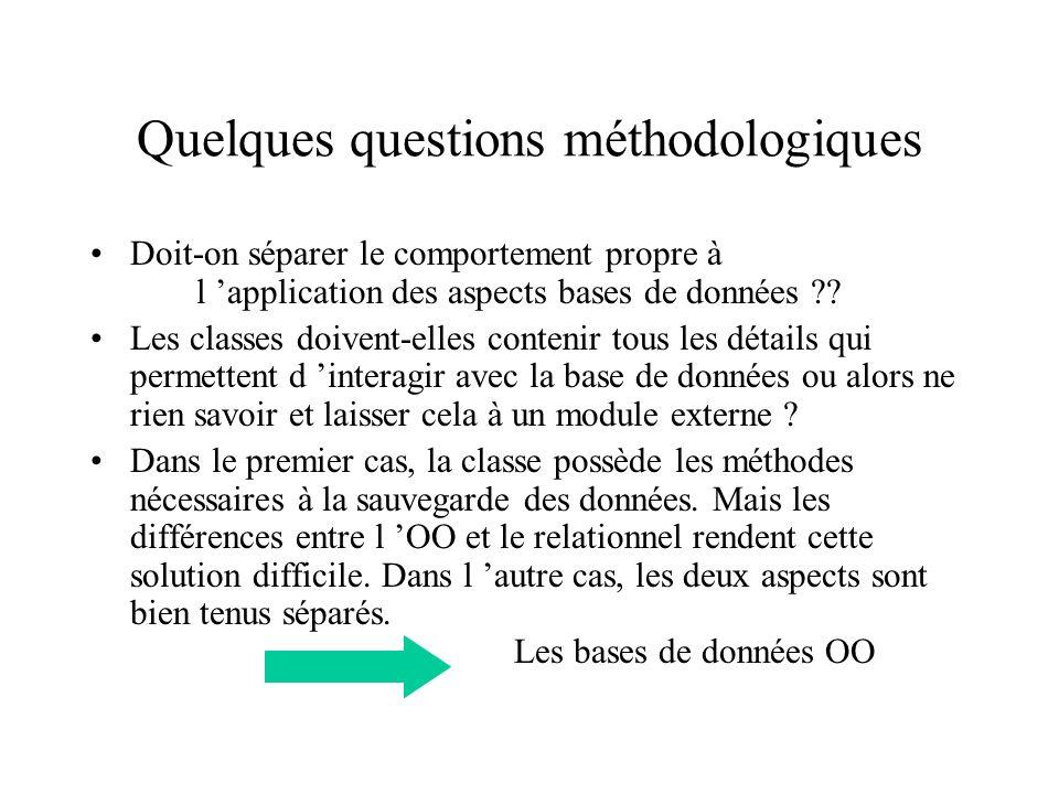 Quelques questions méthodologiques