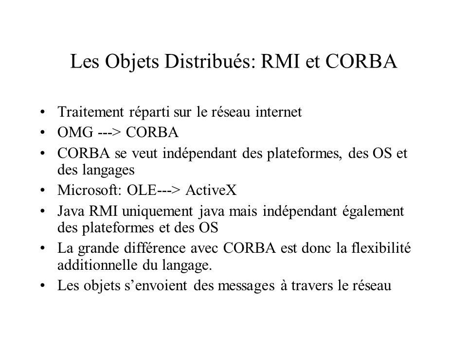 Les Objets Distribués: RMI et CORBA