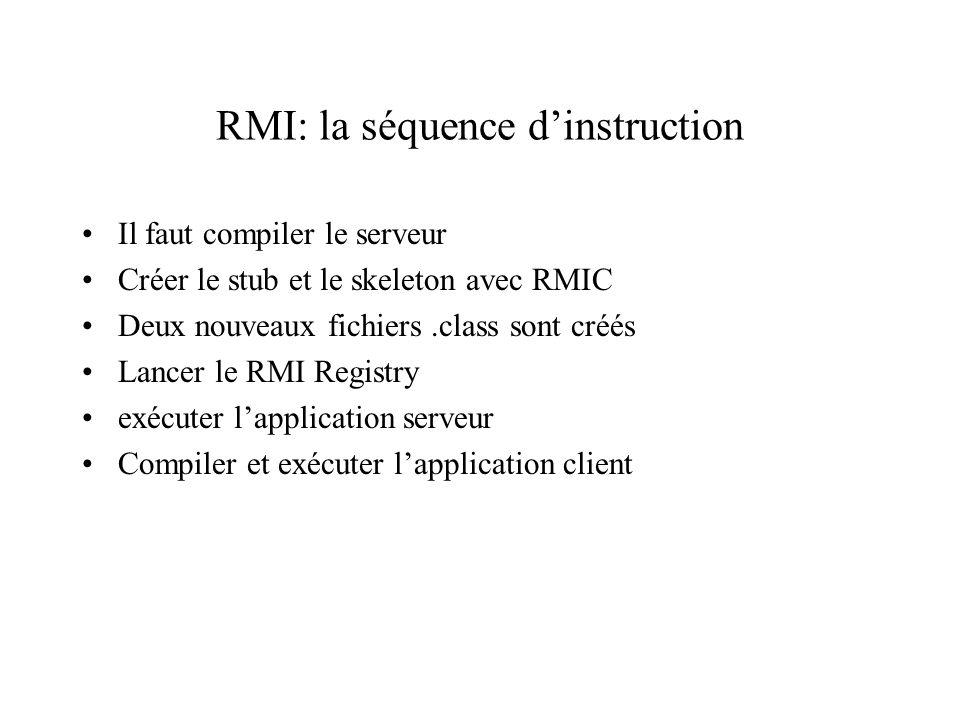 RMI: la séquence d'instruction