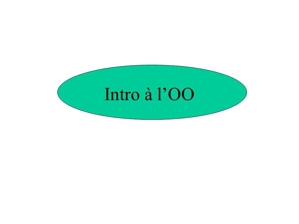 Intro à l'OO