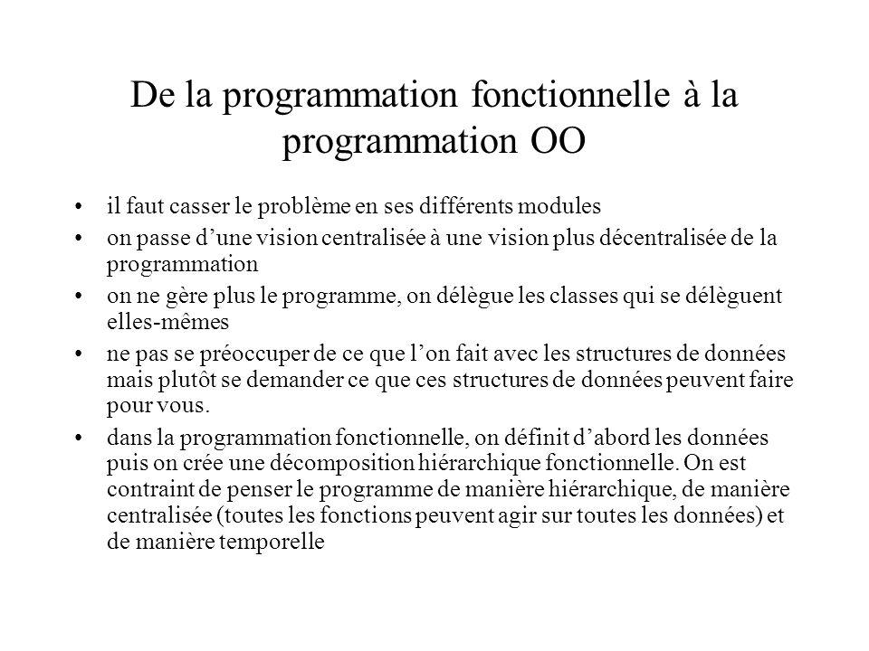 De la programmation fonctionnelle à la programmation OO