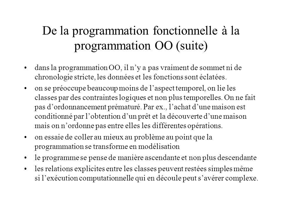 De la programmation fonctionnelle à la programmation OO (suite)