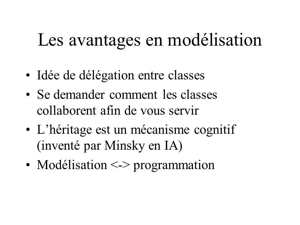 Les avantages en modélisation