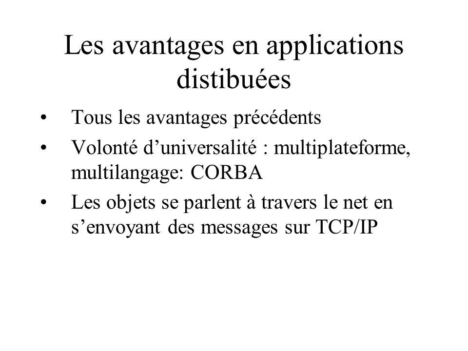 Les avantages en applications distibuées