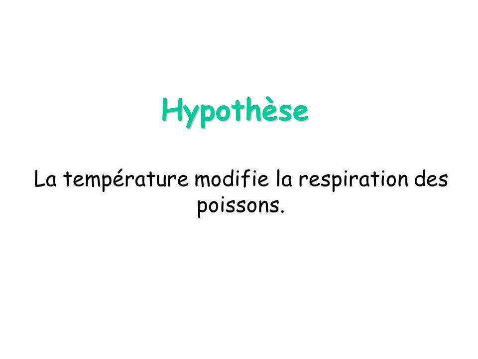 La température modifie la respiration des poissons.