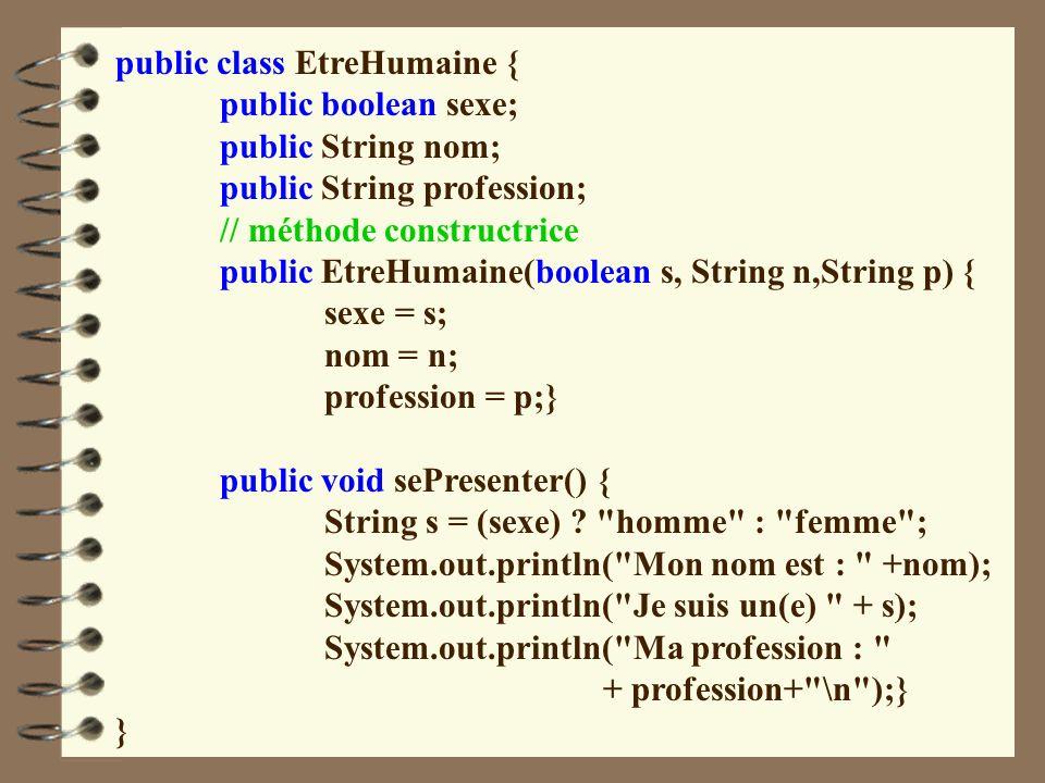 public class EtreHumaine {