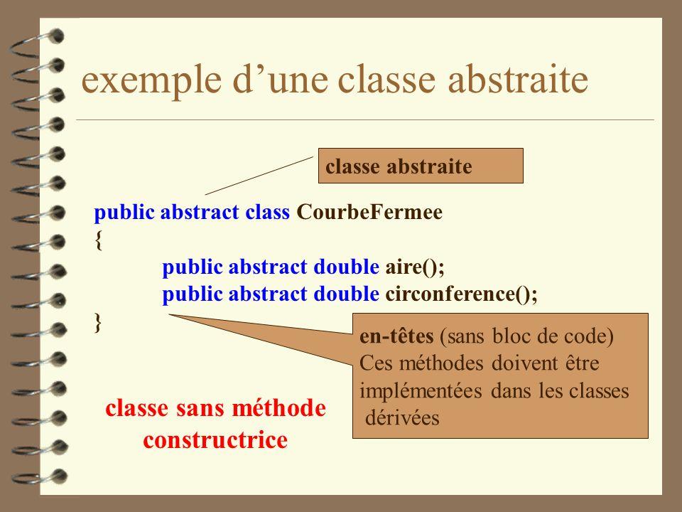 exemple d'une classe abstraite