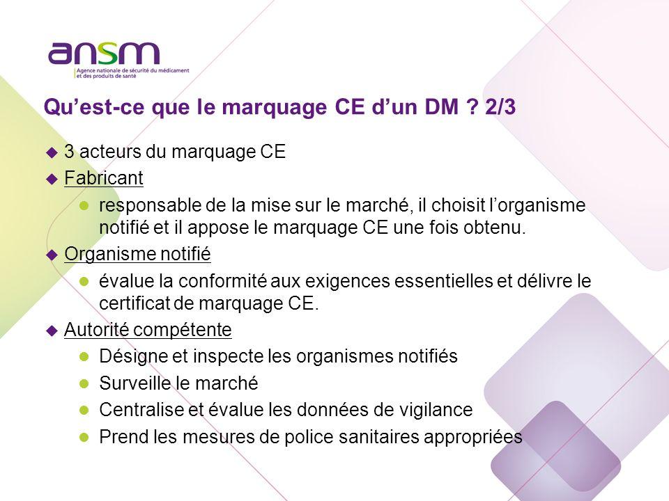 Qu'est-ce que le marquage CE d'un DM 3/3