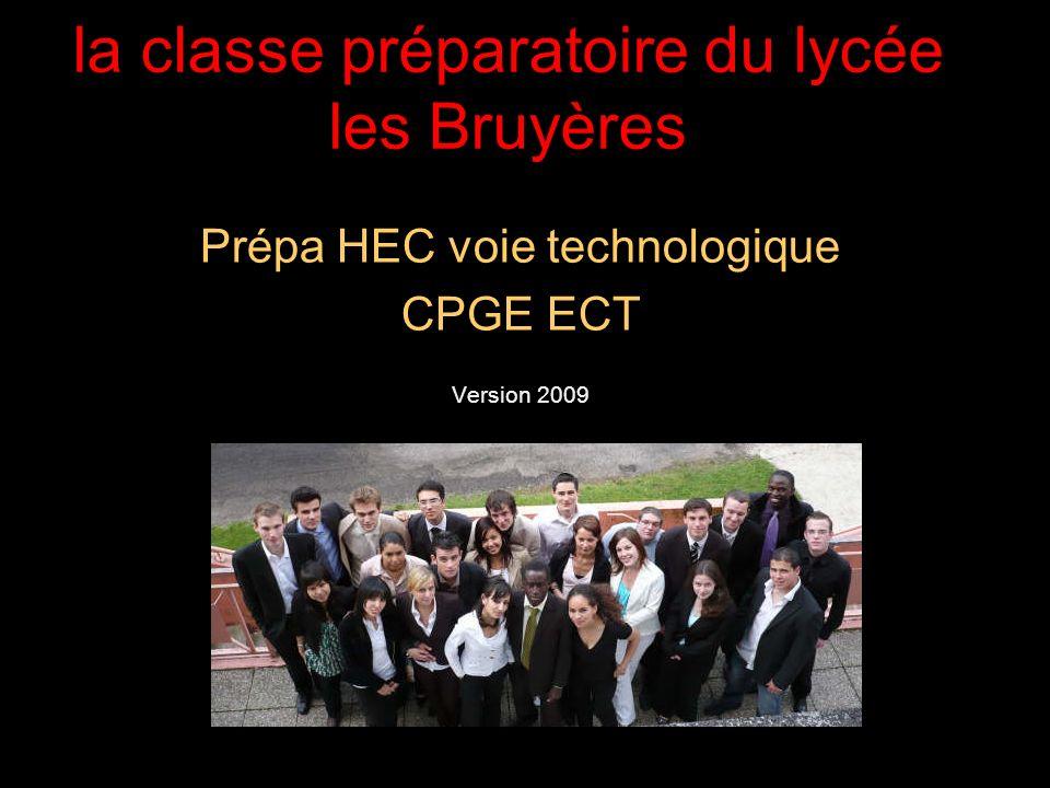 la classe préparatoire du lycée les Bruyères