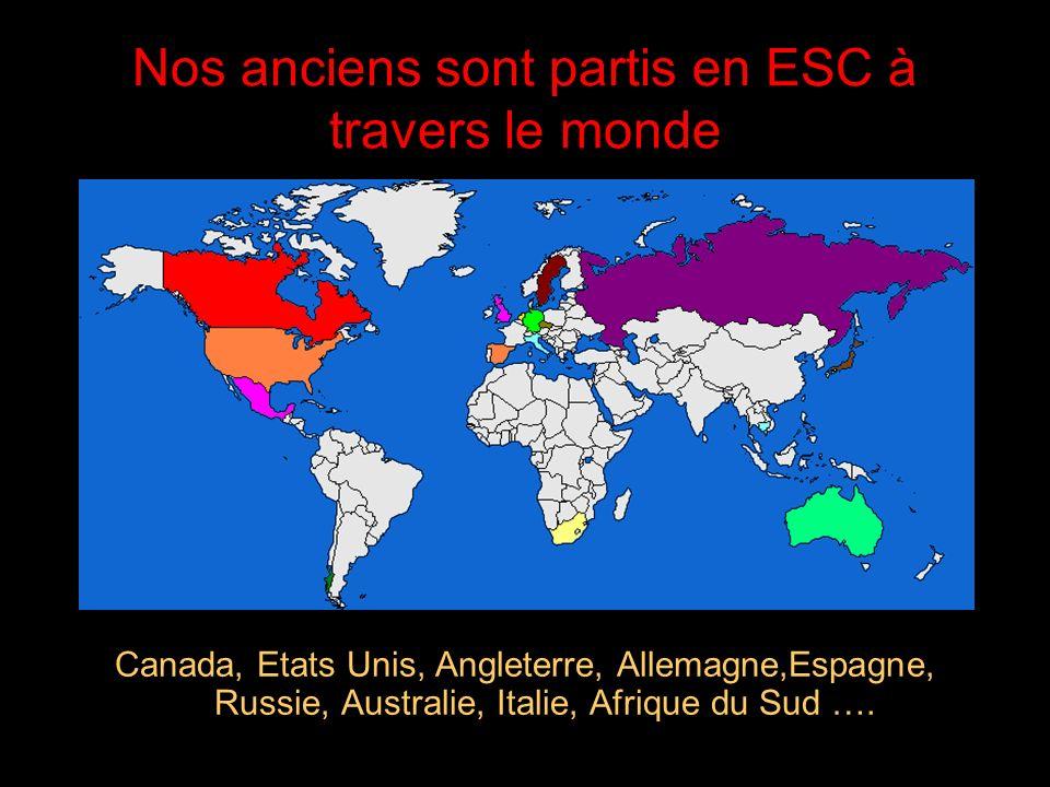 Nos anciens sont partis en ESC à travers le monde