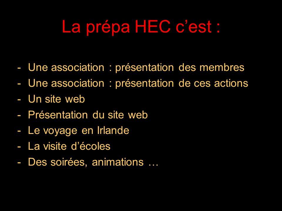 La prépa HEC c'est : Une association : présentation des membres