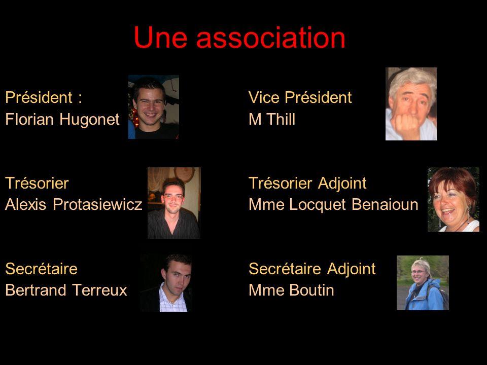 Une association Président : Vice Président Florian Hugonet M Thill