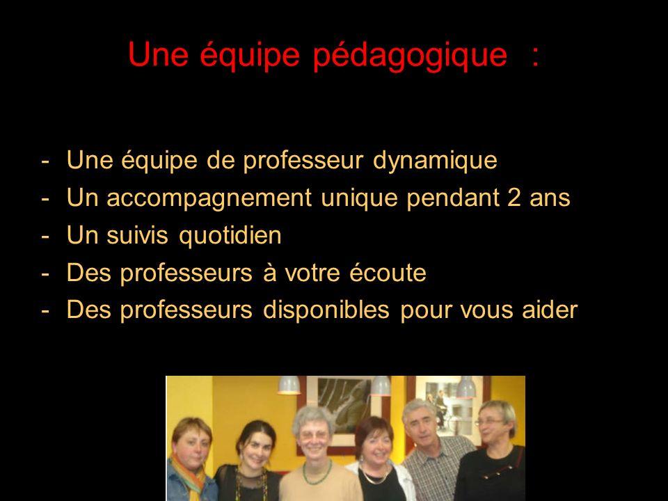 Une équipe pédagogique :