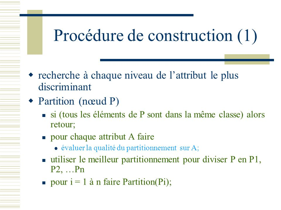 Procédure de construction (1)