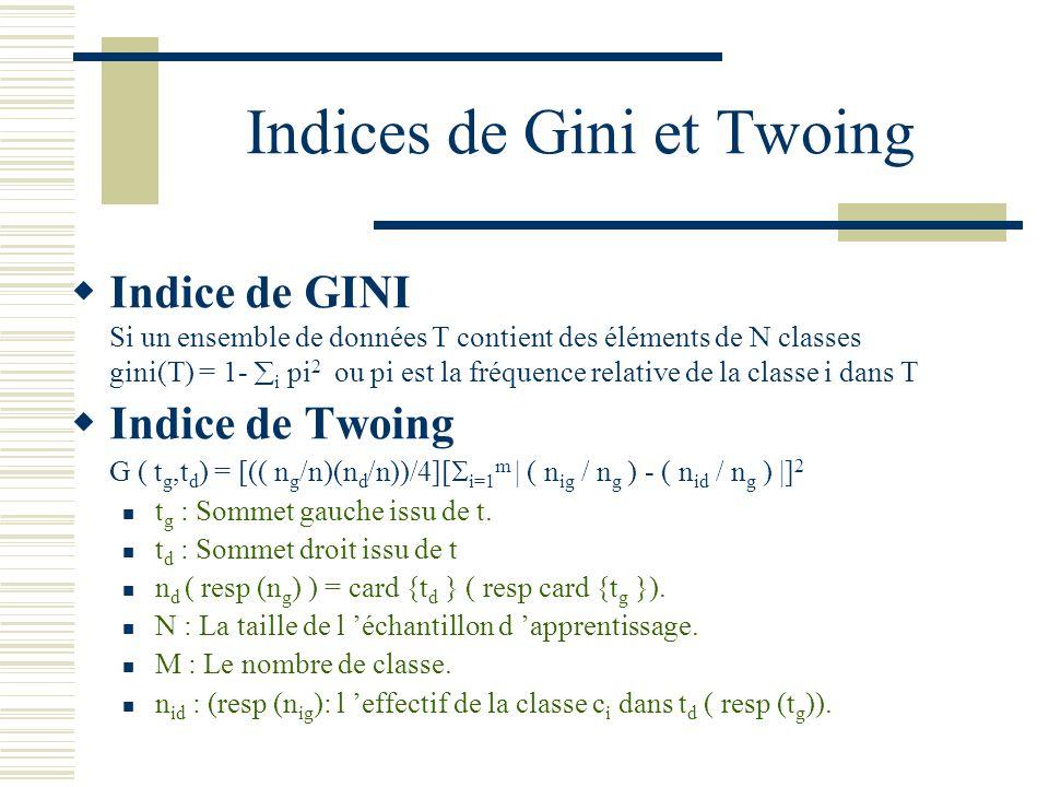 Indices de Gini et Twoing