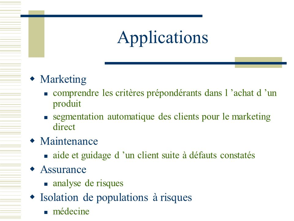 Applications Marketing Maintenance Assurance