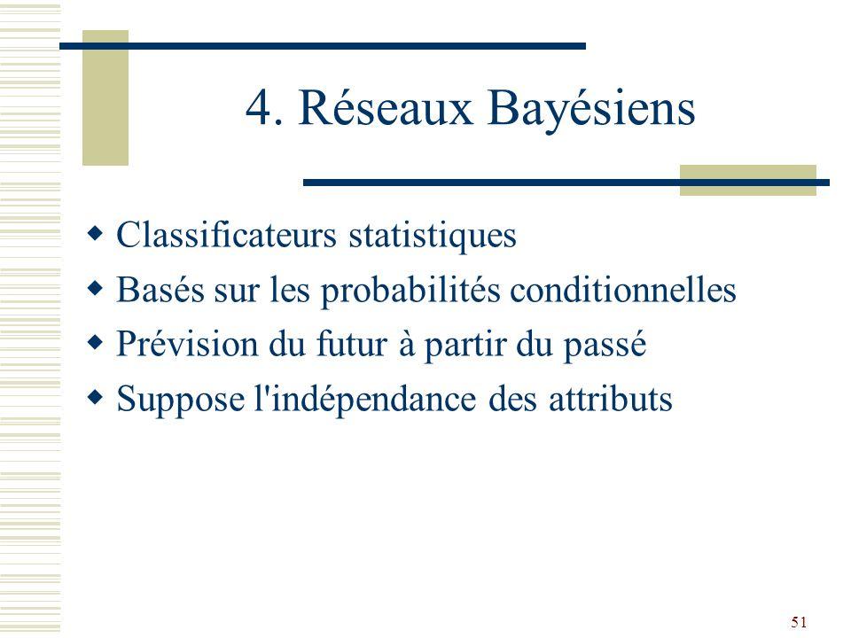 4. Réseaux Bayésiens Classificateurs statistiques