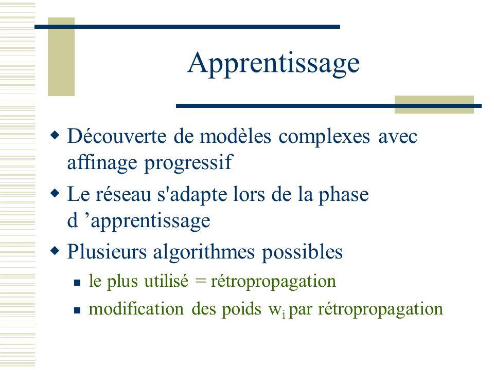 Apprentissage Découverte de modèles complexes avec affinage progressif