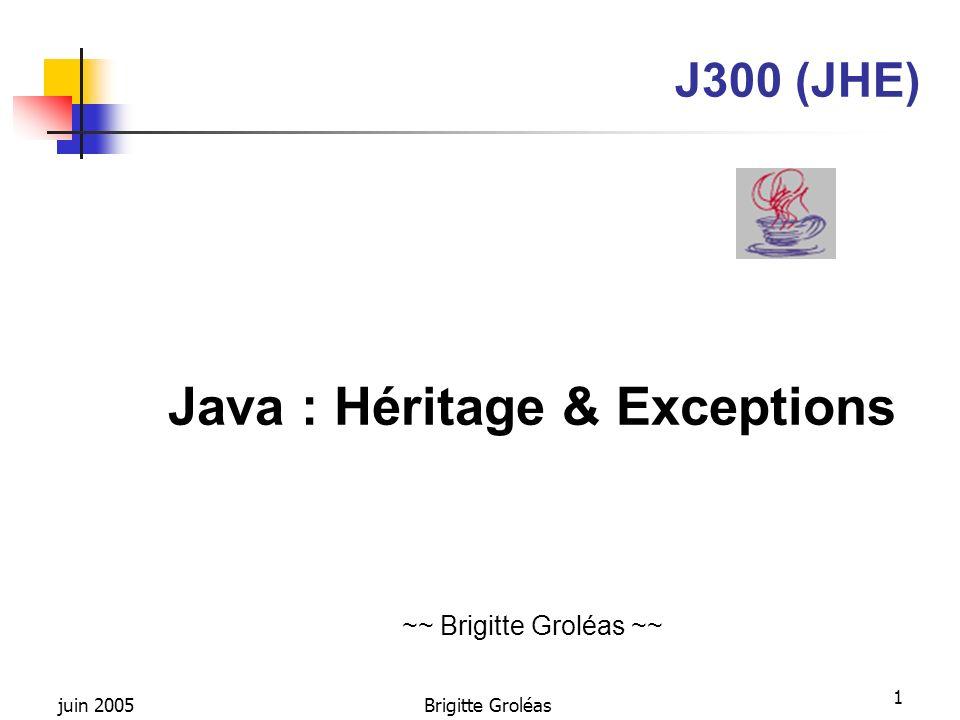 Java : Héritage & Exceptions