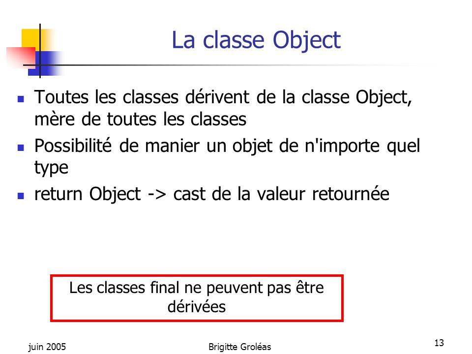 Les classes final ne peuvent pas être dérivées