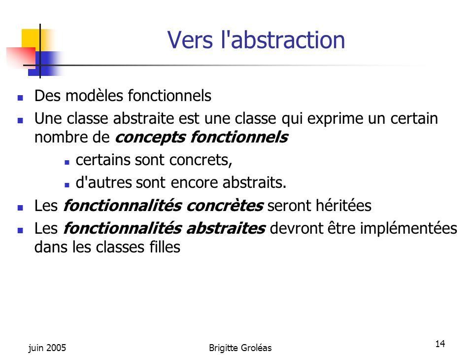 Vers l abstraction Des modèles fonctionnels