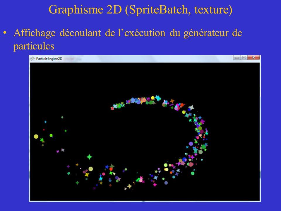 Graphisme 2D (SpriteBatch, texture)