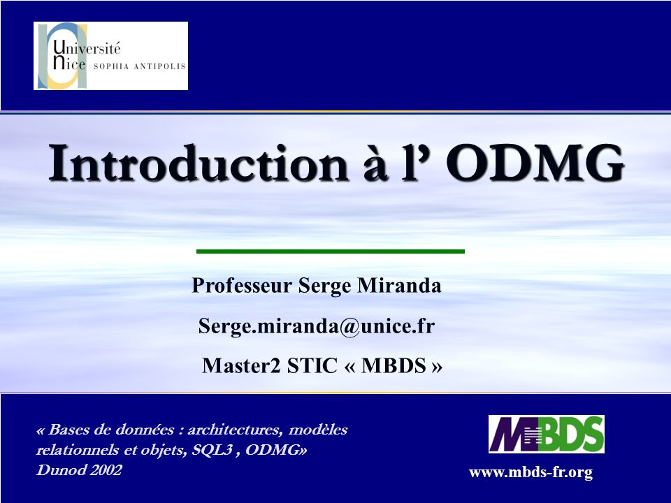 Professeur Serge Miranda