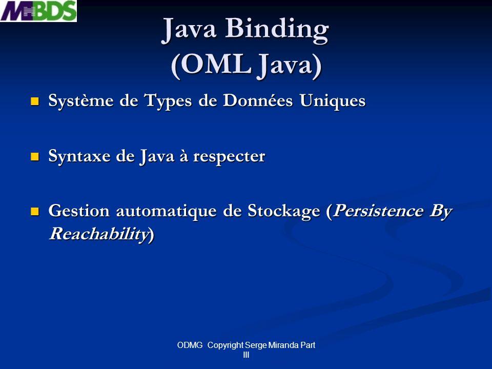 Java Binding (OML Java)
