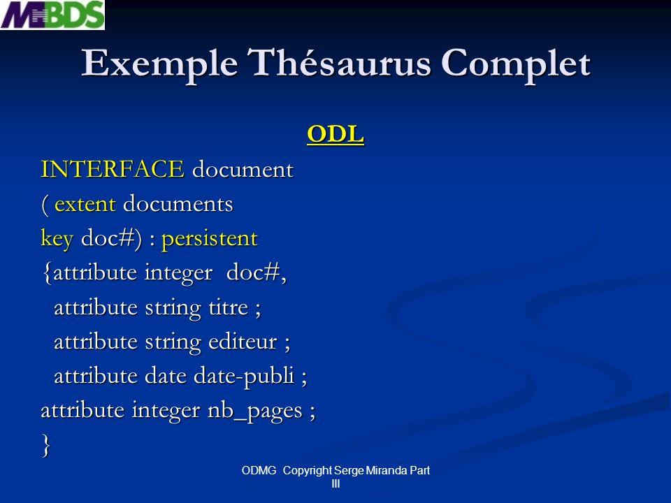 Exemple Thésaurus Complet