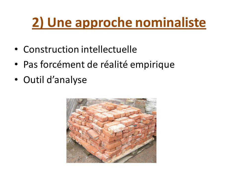 2) Une approche nominaliste