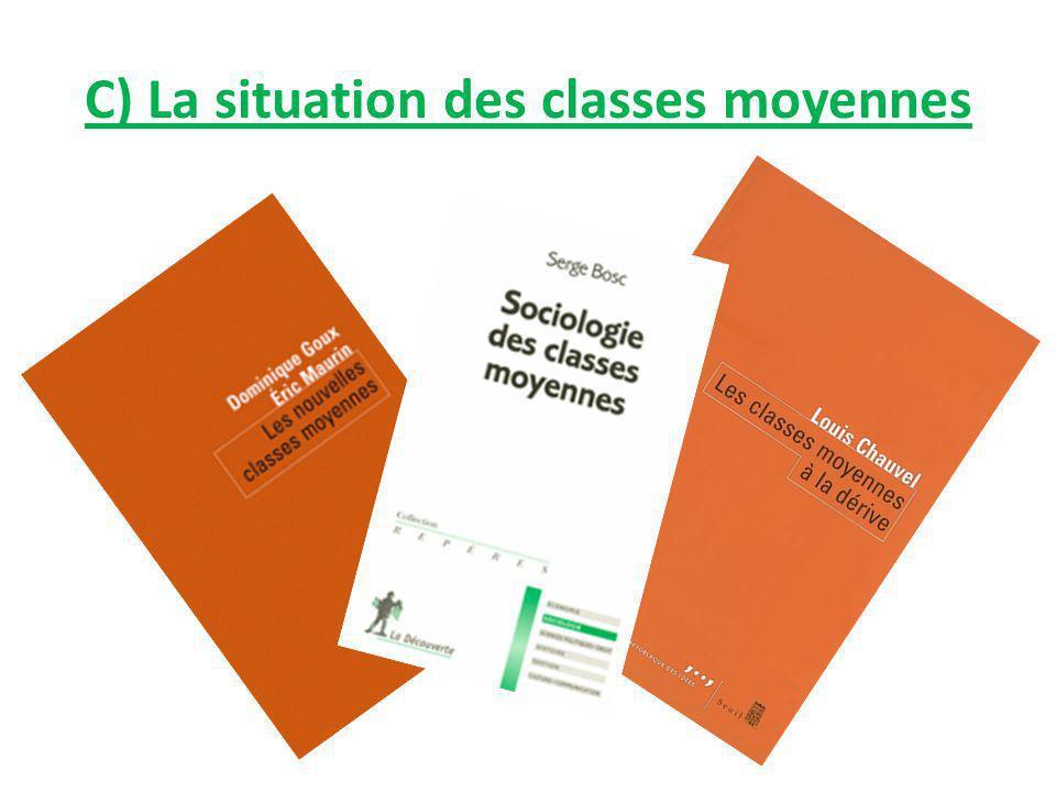 C) La situation des classes moyennes