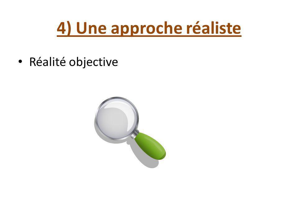 4) Une approche réaliste