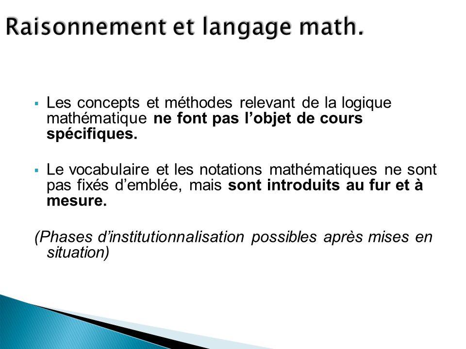 Les concepts et méthodes relevant de la logique mathématique ne font pas l'objet de cours spécifiques.
