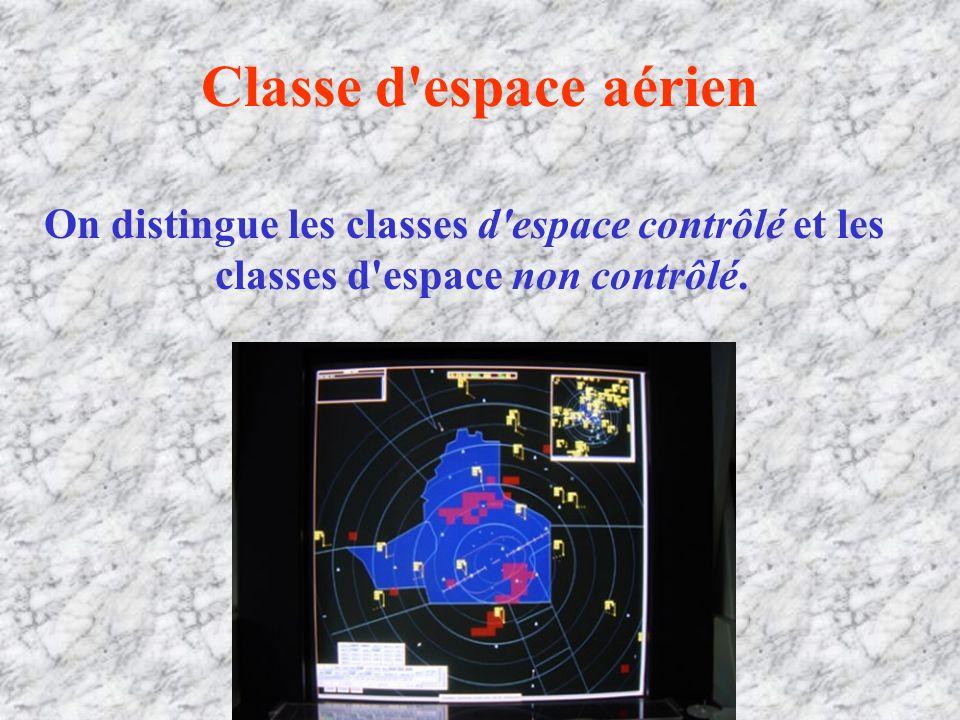 Classe d espace aérien On distingue les classes d espace contrôlé et les classes d espace non contrôlé.