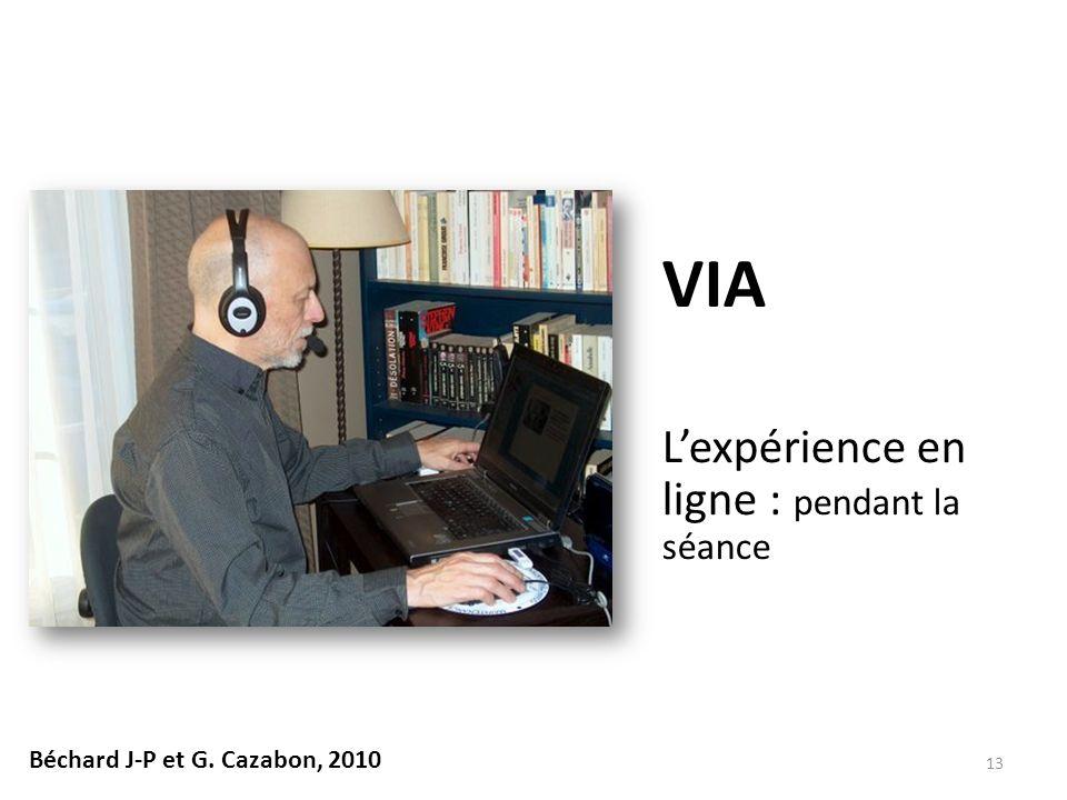 L'expérience en ligne : pendant la séance