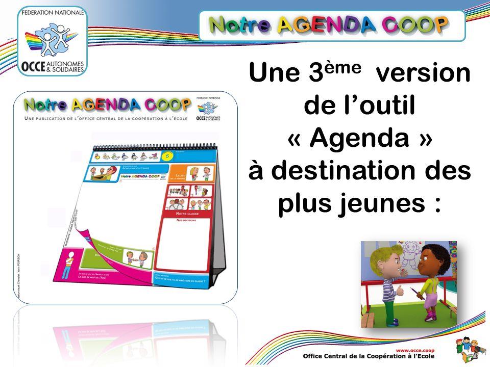 Une 3ème version de l'outil « Agenda »